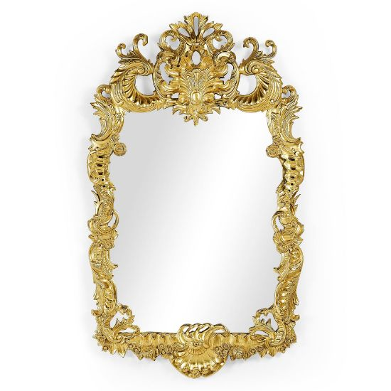Picture of Finely carved & gilded rococo style mirror by Jonathan Charles