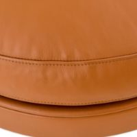 Guscioalto Soft Leather Caramel Arm Chair by Flexform leather front closeup view