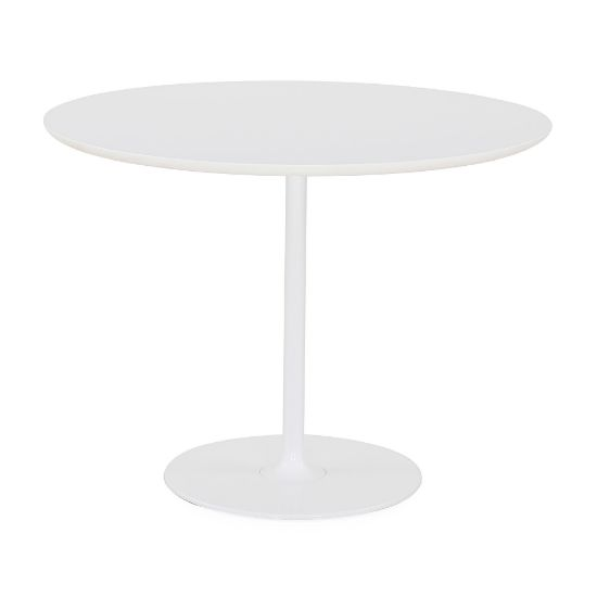 Picture of Dizzie | White Lacquered Steel & MDF Round Table By Arper