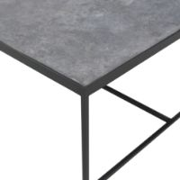 Picture of Lio | Matt Stoneware Top Stainless Steel Coffee Table By Paola Lenti