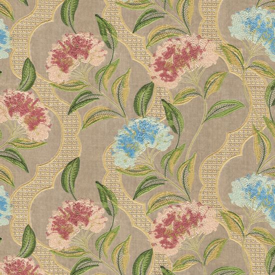 Picture of Velvet Spring Field Floral Embroidered Beige