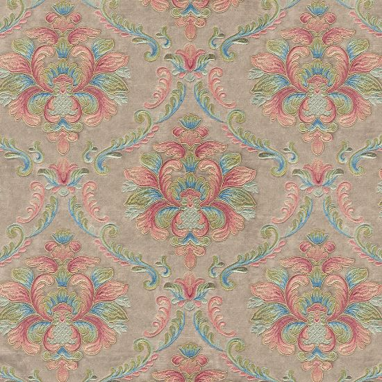 Picture of Velvet Spring Field Classic Floral Embroiderd Beige