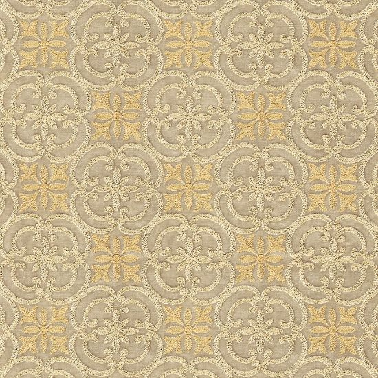 Picture of Embroidered  Velvet  Spring  Field  Beige