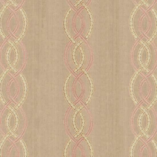 Picture of Velvet Spring Field Stripe Embroidery Beige