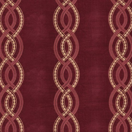Picture of Velvet Spring Field Stripe Embroidery Burgundy