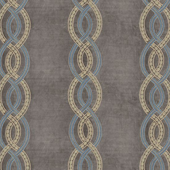 Picture of Velvet Spring Field Stripe Embroidery Grey