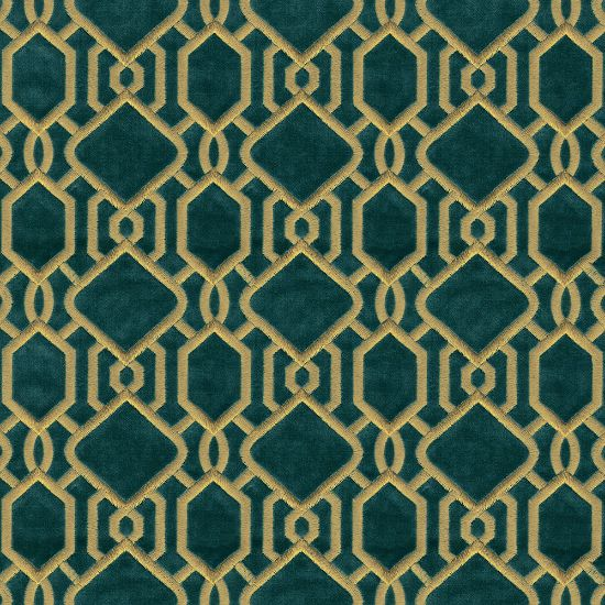 Picture of Velvet Spring Field Diamond Embroidered Green