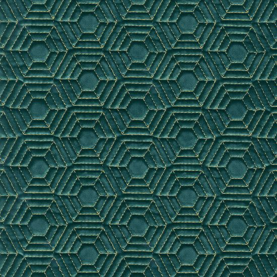 Picture of Quilted Honey Comb Velvet Green